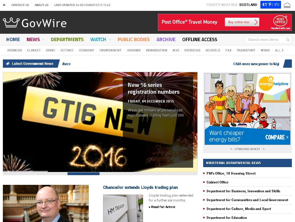 GovWire.co.uk Screenshot